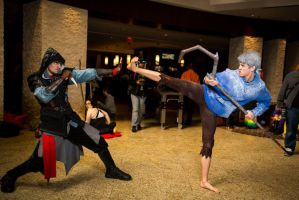 Jack Frost vs Assassin's Creed by Smoothierox