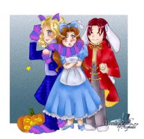 Halloween in Wonderland by SinistrosePhosphate