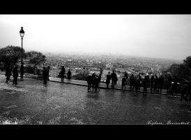Paris From Sacre Coeur by DeFutura