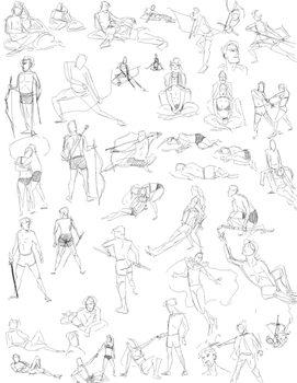 Null-Entity Gesture Drawings 2 by slyshand
