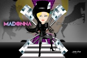 Confessions Tour cartoon wallpaper by Ludingirra