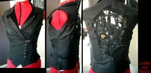 Leather Tzimice Vest by Magpieb0nes