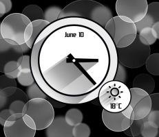 Real Shadow Clock for xwidget (FIXED) by jimking