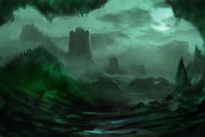 Quick environment sketch_color by Lyno3ghe
