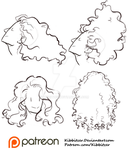 Curly Hair Reference Sheet 1 by Kibbitzer