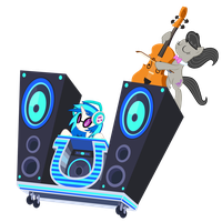 DJ Pon 3 and Octavia's Ride! Vector by GreenMachine987