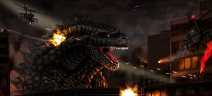 Godzilla Attacks! by Areoseph