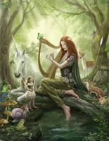 Lynn d'Vadalis in the fairy wood. by dashinvaine