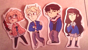 Kyoukai no Kanata Stickers by Zamiiz