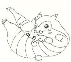 Furret Love Cuddle! by Doughknight