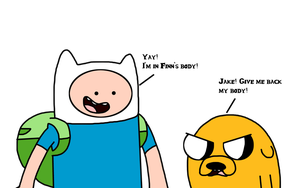 Finn and Jake with their bodies switched by MarcosLucky96