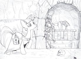 Lifting the Darkness - A Pony Pencil Sketch by SnipperWorm