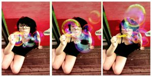 soap bubble girl by ejan
