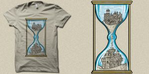 Sandcastle of time t-shirt art by biotwist