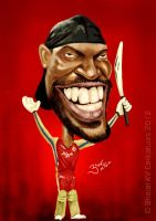 Chris Gayle Caricature by libran005