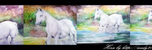watercolor horse by mady21v