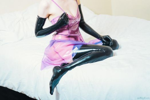 Latex dress on the bed #6 by PascalsProxy