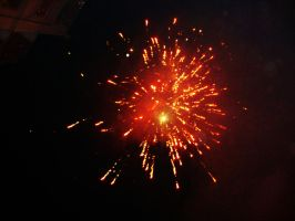 New Years fireworks 2 by Laura-in-china