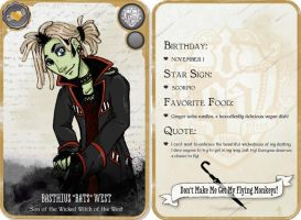 Basthius -Bats- West Character Card by AlyssaTolensky