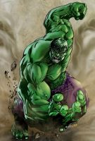 Incredible Hulk - Art by Robert Atkins by Andre-VAZ