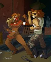 Commission: Calamity Jane+Sharpfury 02 by quelico