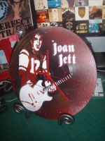 Joan Jett Clock by artbyabbey