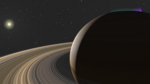 Saturn and its rings.... by manabrau