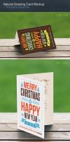 Natural Greeting Card Mockup by h3design