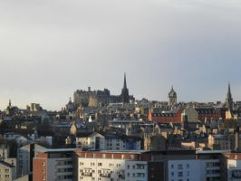 Cityscape Edinburgh 3 (from the hill) by Cippman