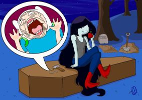 Marceline, queen of evil! by Misaky