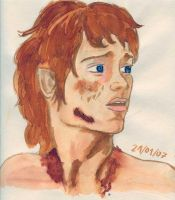 Water colour Frodo by anwise-gamgee