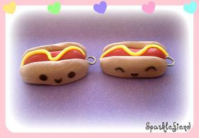 Cute Hot Dogs by Sparklefiend