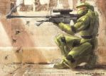 masterchief, sniping by freefall-omega