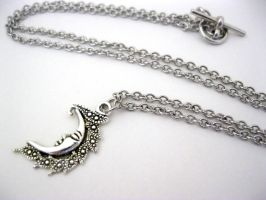 Celestial moon necklace by faranway