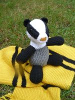 Badger Amigurumi by MilesofCrochet