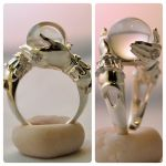 The Oracle - sterling ring and clear quartz sphere by kerinewton