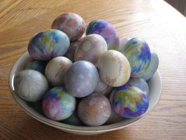 Silk-dyed Easter Eggs by dsimple
