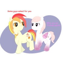 Best friends Gleaming Heart and Billet-doux by wizdiana