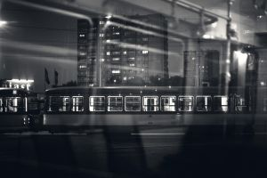 Night view from tram by kubica