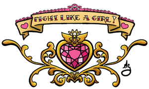Fight like a girl lower back piece by Miss-Ag