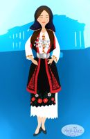Greek Traditional Costume by Andi-Tiucs