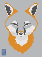 Grey Fox by Naryu
