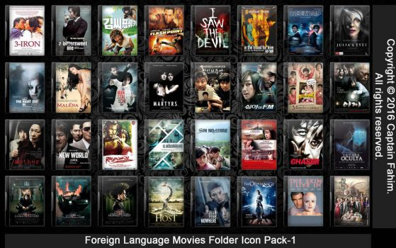 Foreign Language Movies Folder Icon Pack-1 by CaptainFahim