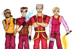 Red Team Firebenders by DancingSmily