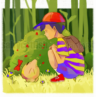 EB: Ness and Mr. Saturn by saltycatfish