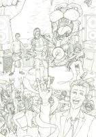 Afterlife Inc pinup - The Afterlife Rocks! pencils by sebcarey