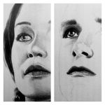 Katniss and Peeta WIP by angiebelikejolie