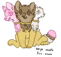 Three Headed Neapolitan Ice Cream OTA by CatFeed