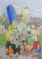 Simpsons Portrait by Azerbinatti