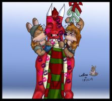 -PC- Christmas  kisses by wolfcub